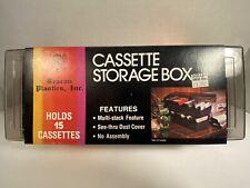 1980's Vintage Cassette Tape Case Holds 15 New Old Stock