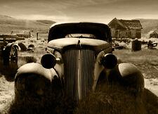 Papier peint photo mural vieux rouillé voiture 115x175cm CHAMBRE & salle à