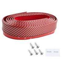Universal Carbon Fiber Front Bumper Lip Splitter Chin Spoiler Body Kit Trim Red