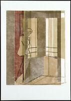 Kunst in der DDR, 1981. Holzschnitt Wolfram EBERSBACH (*1943 D), handsigniert