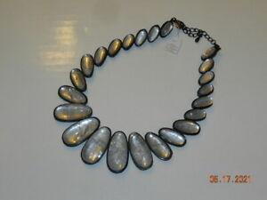 lia sophia Rare Rock Crystal Hematite Necklace MSRP $220 Kiam Collection