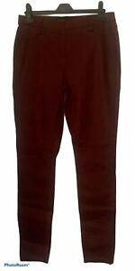 NEXT Burgundy Ladies Faux Leather Leggings Jeggings UK 14
