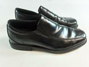 Rockport Mens Black Leather Slip On Shoes. Size 11 Wide.