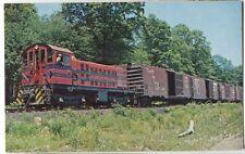 Morristown & Erie  Railroad Diesel  Mauritus Jensen #14 Essex Falls NJ Postcard