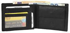 Herren Geldbörse aus Echtleder Brieftasche Geldtasche Echt Leder schwarz quer