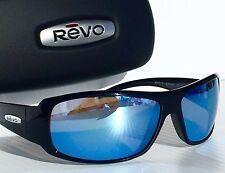 NEW! REVO GUNNER BLACK w POLARIZED Blue Water Lens Sunglass 5010 00 BL