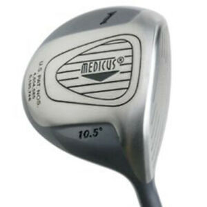 Medicus Dual-Hinged Driver Mens Left Hand 10.5 Degree 260cc Helps Improve Swing