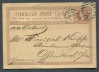 Great Britain : Penny stationary from 1876 - used - London to Germany