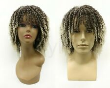 """Dreadlocks Unisex Wig Brown with Light Blonde Bangs Synthetic 12"""""""