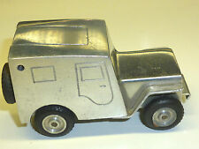 "Walter ""BAIER"" Vintage German Aluminium Table Lighter ""BABY JEEP"" -1948 - Germany"