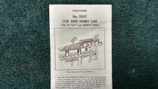LIONEL # 3357 COP AND HOBO CAR INSTRUCTIONS PHOTOCOPY
