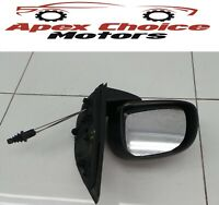 2014 Fiat Panda MK3 319 Manual Wing Mirror Passenger Left Side Black H01604835