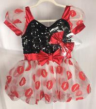Weissman Child XXL Dress Kiss Print Lips Halloween Sequins Costume Red