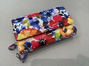 NEW! BUXTON Super Wallet Turn Lock & RFID Protection - Bright Bloom