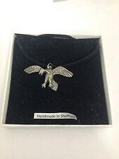 Archaeopteryx we-fap EMBLEMA su una corda nera collana realizzata a mano 41cm
