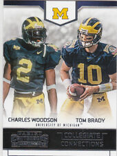 TOM BRADY & CHARLES WOODSON Dual Insert Card MICHIGAN WOLVERINE College Football