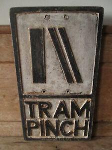 Tram Pinch aluminum road sign. traffic sign.vintage sign.road sign.