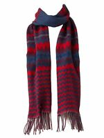 Croft & Barrow Women's Super Soft Zigzag Muffler Scarf, Blue and Coral Red