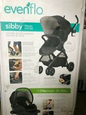NEW Charcoal Evenflo Sibby Travel System with LiteMax 35 Infant Car Seat