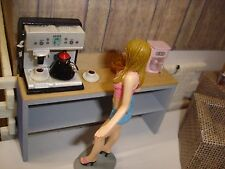 1/18 ESPRESSO MACHINE.W/COFFEE- SCALE- for your Shop/Garage/Diorama