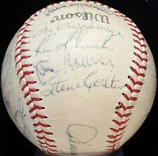 1975 Philadelphia Phillies Signed Baseball STEVE CARLTON HOF Auto vtg 70s