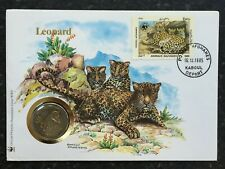 1985 WWF AFGHANISTAN SNOW LEOPARD COIN COVER - KABOUL - (S6)