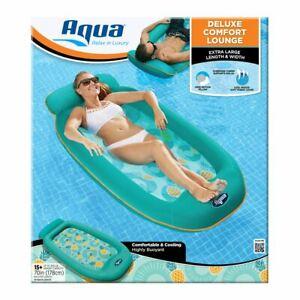 Aqua Deluxe Comfort Lounge XL- Extra Large Pool Beach Adult Water Float Lounger