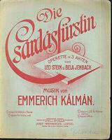 """Emmerich Kalman :  """" Die Csardasfürstin """" (Potpourri I ) ~ alt, übergroß"""