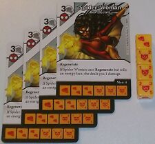 4 X SPIDER-WOMAN: BIO-ELECTRIC 70/142 The Amazing Spider-Man Dice Masters