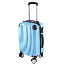 """20"""" Cabin Luggage Suitcase - Hard Shell Travel Case Carry On Bag Trolley Blue"""