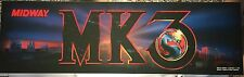 "Mortal Kombat 3 Arcade Marquee 25"" x 7.5"""