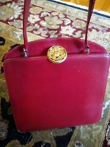 Vintage Saks Fifth Avenue French Leather Handbag Red