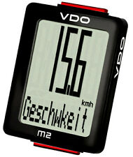 VDO Bike Speedometer M2 WL Blackline 30023 Analogue Wireless Computer biketachos