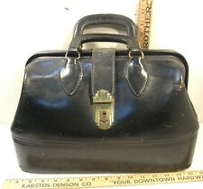 Vintage Schell Top Grain Cowhide Black Leather Doctor Md Dentist House Call Bag
