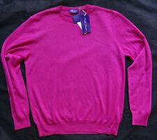 RALPH LAUREN PURPLE LABEL 100% KASCHMIR Sweater MADE IN ITALY Gr L BRIGHT PINK