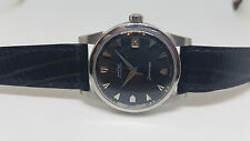 RARE 60'S OMEGA SEAMASTER BLACK DIAL CAL:503 DATE AUTO MAN'S WATCH BIG LOGOS