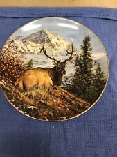 Mountain Repose By Bruce Miller Excellent Condition Fantastic Elk Plate No Flaws