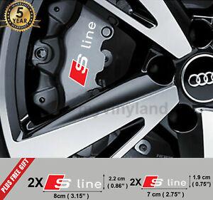4X für Audi S line bremssattel Aufkleber Audi S line logo Aufkleber (rot-Weiss)