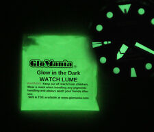 GLOW IN THE DARK Pigment Powder WATCH LUME Powder Coating Green or Blue