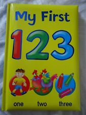 MY FIRST 123 BOOK -  teaches counting & numbers - HARDBACK BOOK - BRAND NEW