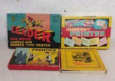 Vintage Stamp Pad Kits Printer Kits 1950's Lot Of 4 Arts and Crafts Printing