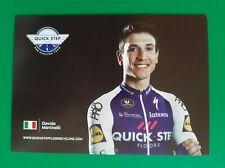 CYCLISME carte cycliste DAVIDE MARTINELLI équipe QUICK STEP FLOORS 2018