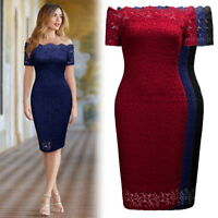 Women's Midi, Floral Lace Bodycon Dress For Formal and Semi Formal Occasions