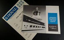 Royal Sales Brochure Vtg 1970s Rare VHTF HiFi Audiophile Receiver Price List