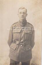 RPPC Postcard: WW1 - Studio Portrait of a Young British Territorial Soldier