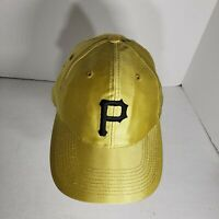 VINTAGE Gold Pittsburgh Pirates SnapBack Hat Ball Cap MLB Baseball