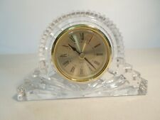 Godinger 24% Lead Crystal Glass Desk Clock Made in Taiwan Brand New Clock Insert