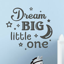 Dream big little one nursery wall decal vinyl sticker mural kids room children