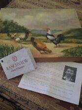 Art Print On Canvas - Signed Numbered - Fabrice De Villeneuve - Chickens