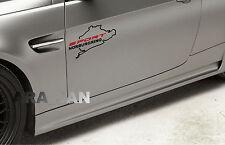 Vinyl Decal Sticker SPORT NURBURGRING racing sport car emblem logo BLACK/RED